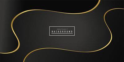 Black golden creative wave background  vector