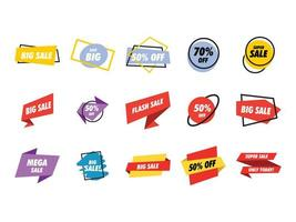 Sale banner collection set vector