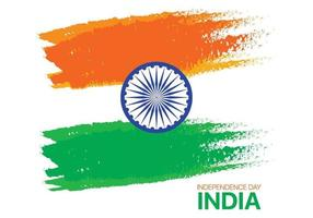 Indian Independence day abstract brush stroke flag