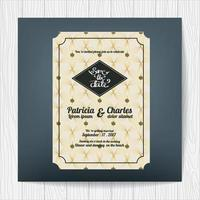 Wedding invitation card with luxury theme