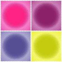 Fondo de semitono multicolor cómico vector