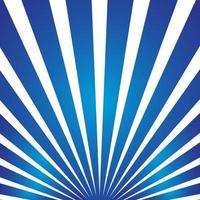 Blue sun burst rays vector