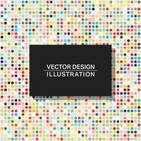 Multicolor dots background template vector