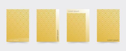 Gold Geometric covers template set vector