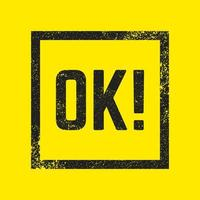 OK stamp isolated vector
