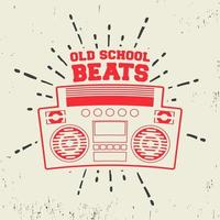Old school beats vintage stamp