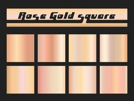 Rose gold gradient square vector