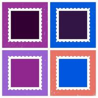 Colored postage stamp template