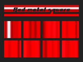 Red gradient square set vector