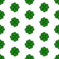 St Patricks Day clover seamless pattern