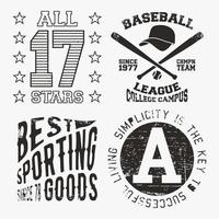 All Star Vintage stamp set