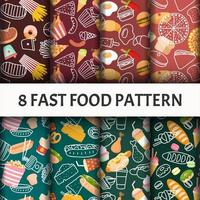 Fast food pattern set.