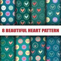 Seamless Heart collection pattern set