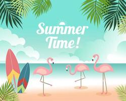 Beautiful Summer banner and poster beach card