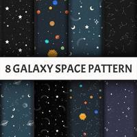 Conjunto de patrones de galaxias. vector