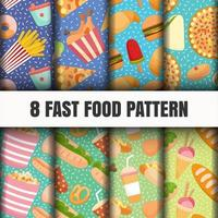 Seamless food pattern set
