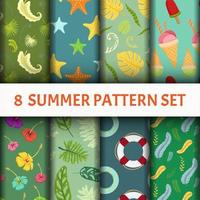 Summer Pattern super set vector