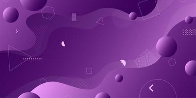 Purple abstract retro geometric shapes background