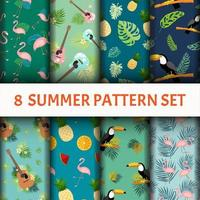 Summer vibes Pattern set  vector