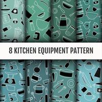 Kitchen tools pattern set.