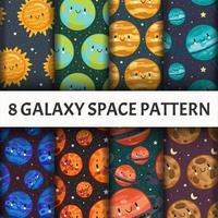 Conjunto de patrones de galaxias