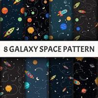 Conjunto de galáxia sem costura padrão