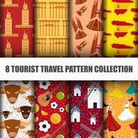 Set of Travel the World Spain Seamless Pattern