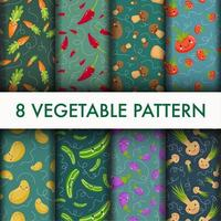 Cute Vegetable pattern set