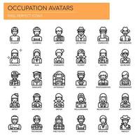 Occupation Avatars , Thin Line and Pixel Perfect Icons vector