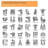 Construction Tools  Thin Line and Pixel Perfect Icons