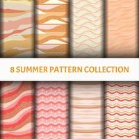 Pink and brown water wave Pattern set