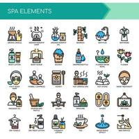 Spa Elements Thin Line et Pixel Perfect Icons
