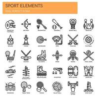 Sport Elements Thin Line y Pixel Perfect Icons