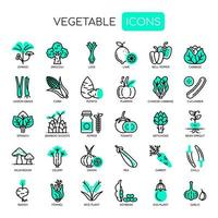 Set of Vegetable thin line and pixel perfect icons for any web and app project.