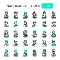 National Costumes , Thin Line and Pixel Perfect Icons