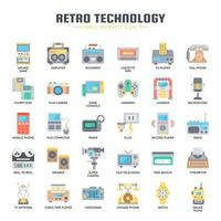 Retro Technology , Thin Line and Pixel Perfect Icons