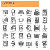 Furniture Elements , Thin Line and Pixel Perfect Icons