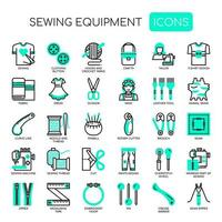 Sewing Elements , Thin Line and Pixel Perfect Icons vector