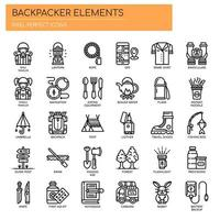 Backpacker Elements, Thin Line et Pixel Perfect Icons