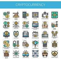 Cryptocurrency Elements , Thin Line and Pixel Perfect Icons