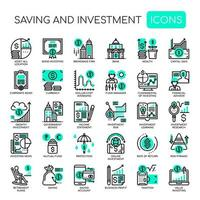 Saving and Investment , Thin Line and Pixel Perfect Icons vector