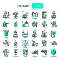 Military Elements , Thin Line and Pixel Perfect Icons