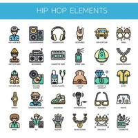 Hip Hop Elements , Thin Line and Pixel Perfect Icons