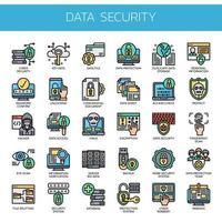Data Security , Thin Line and Pixel Perfect Icons