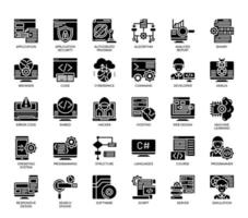 Programming , Glyph Icons vector