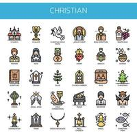 Christian Elements, dünne Linie und Pixel Perfect Icons