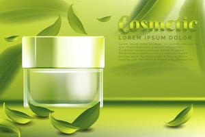 cream jar cosmetic products ad
