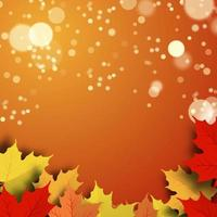 Autumn Leaves with blurred lights  vector