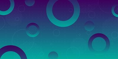 Blue green gradient circular shapes background