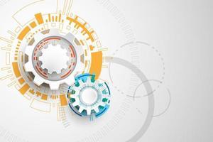 Engrenagens de tecnologia mecânica 3d colorida
